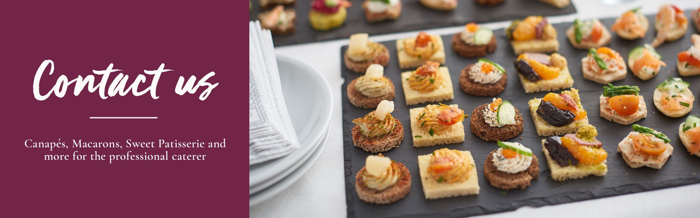 Canapes Catering - Tipiak Foodservice - Canapes, Macarons, Sweet Patisserie