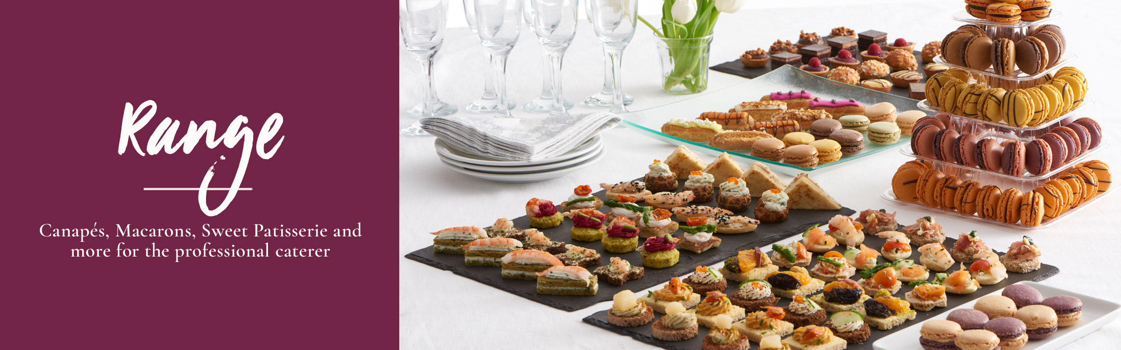 Buffet Food Supplier - Tipiak Foodservice - Canapes, Macarons, Sweet Patisserie