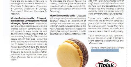 Macarons Supplier - Tipiak Foodservice - Restaurant Update - Tipiak Expands Macarons Selection